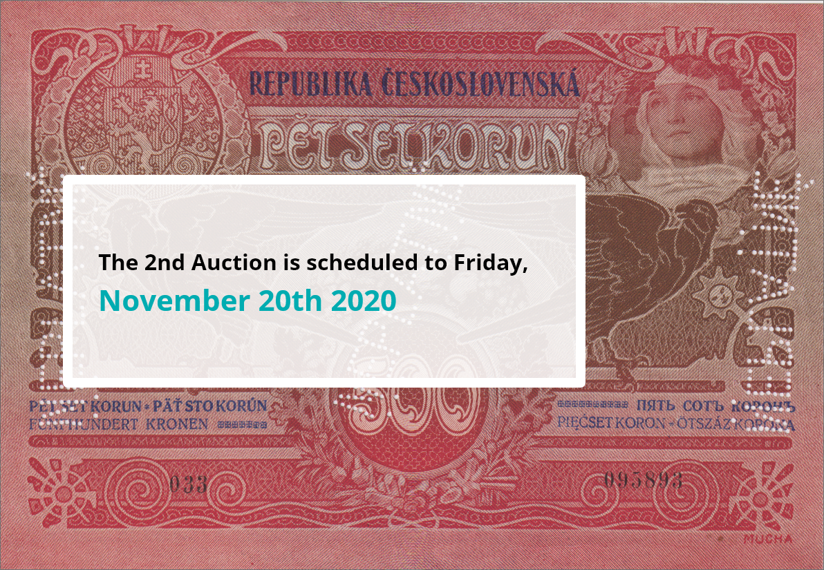 The 2nd Auction is scheduled to Friday, November 20th 2020