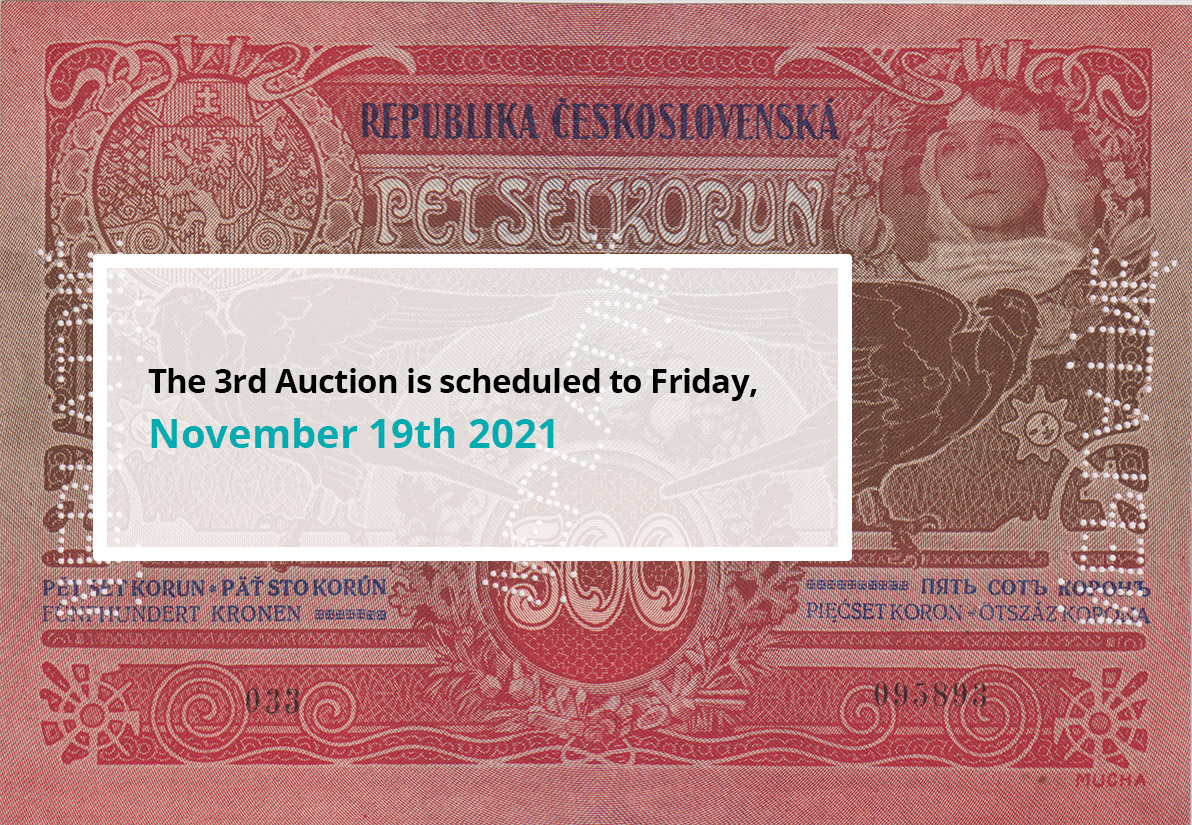The 3rd Auction is scheduled to Friday, November 19th 2021